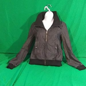 Theory small black/gray zip up jacket